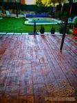 Pavimento de hormigón impreso de madera